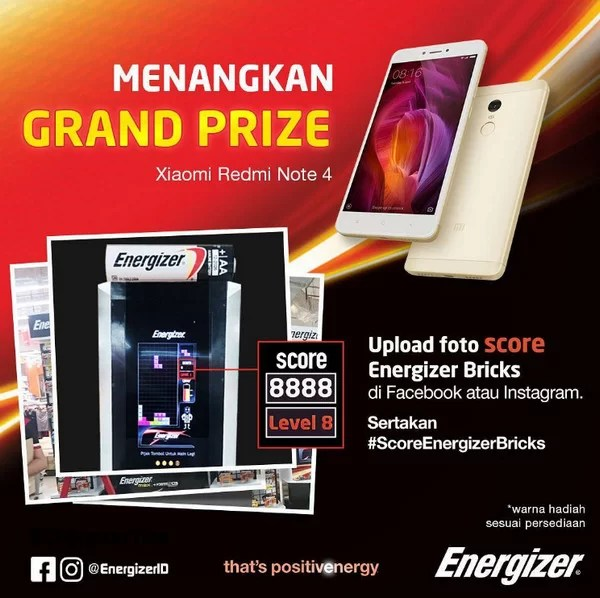 Score Energizer Bricks