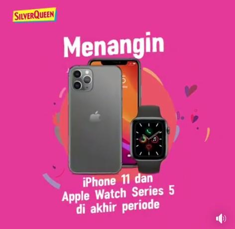Kontes Silverqueen Banyak Makna Cinta Hadiahnya iPhone 11
