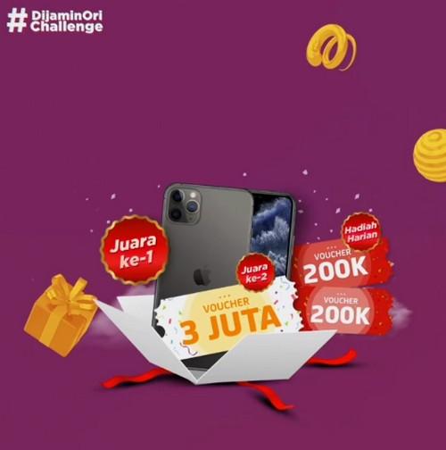 Kontes TikTok Dijamin Ori Berhadiah iPhone 11 & Voucher JD.id Jutaan Rupiah