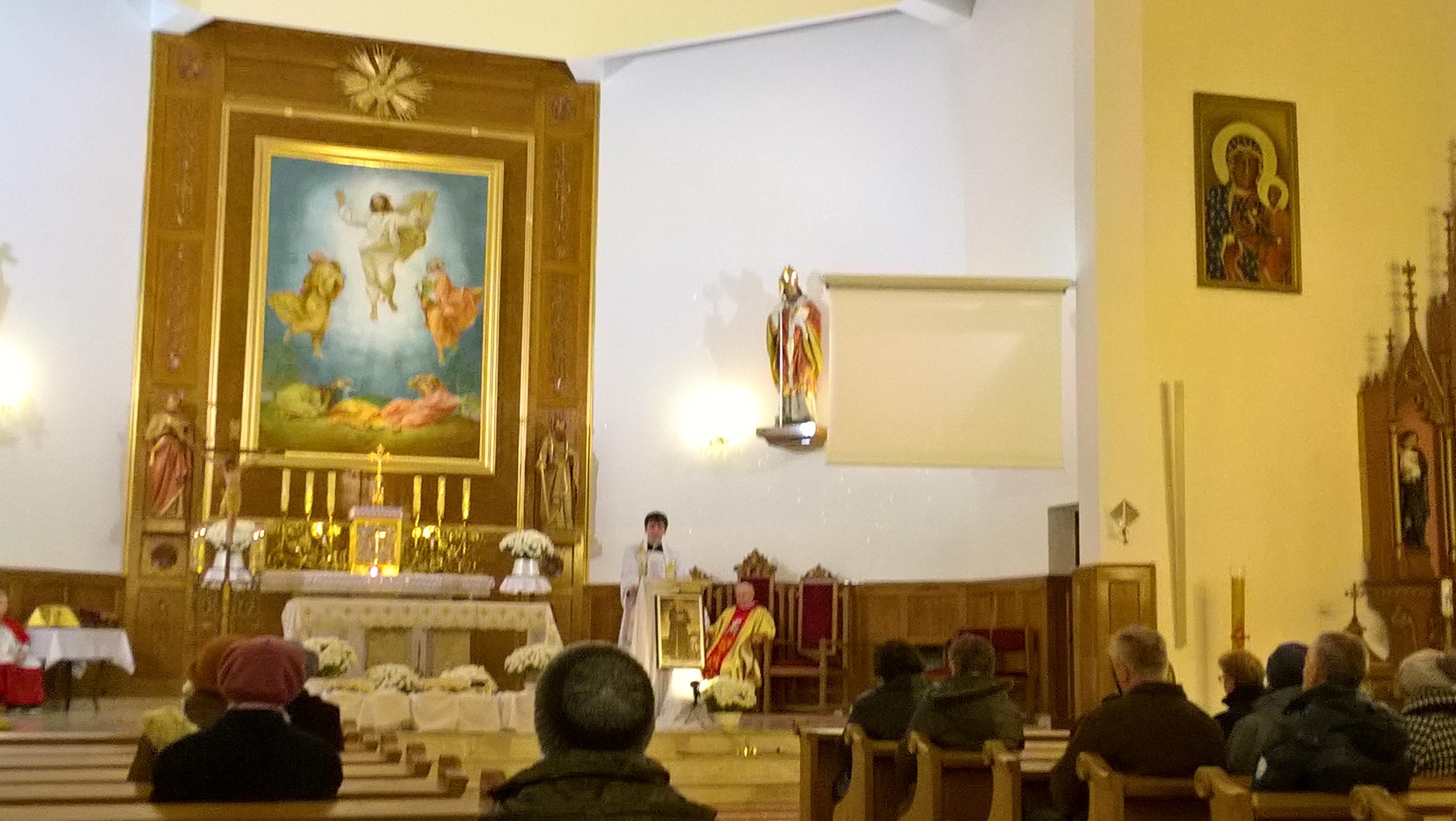 Buczkowice - instalacja relikwii bł. Honorata w kościele parafialnym (26 XI 2017)