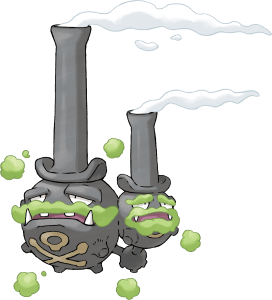 Galarian Form Weezing Artwork