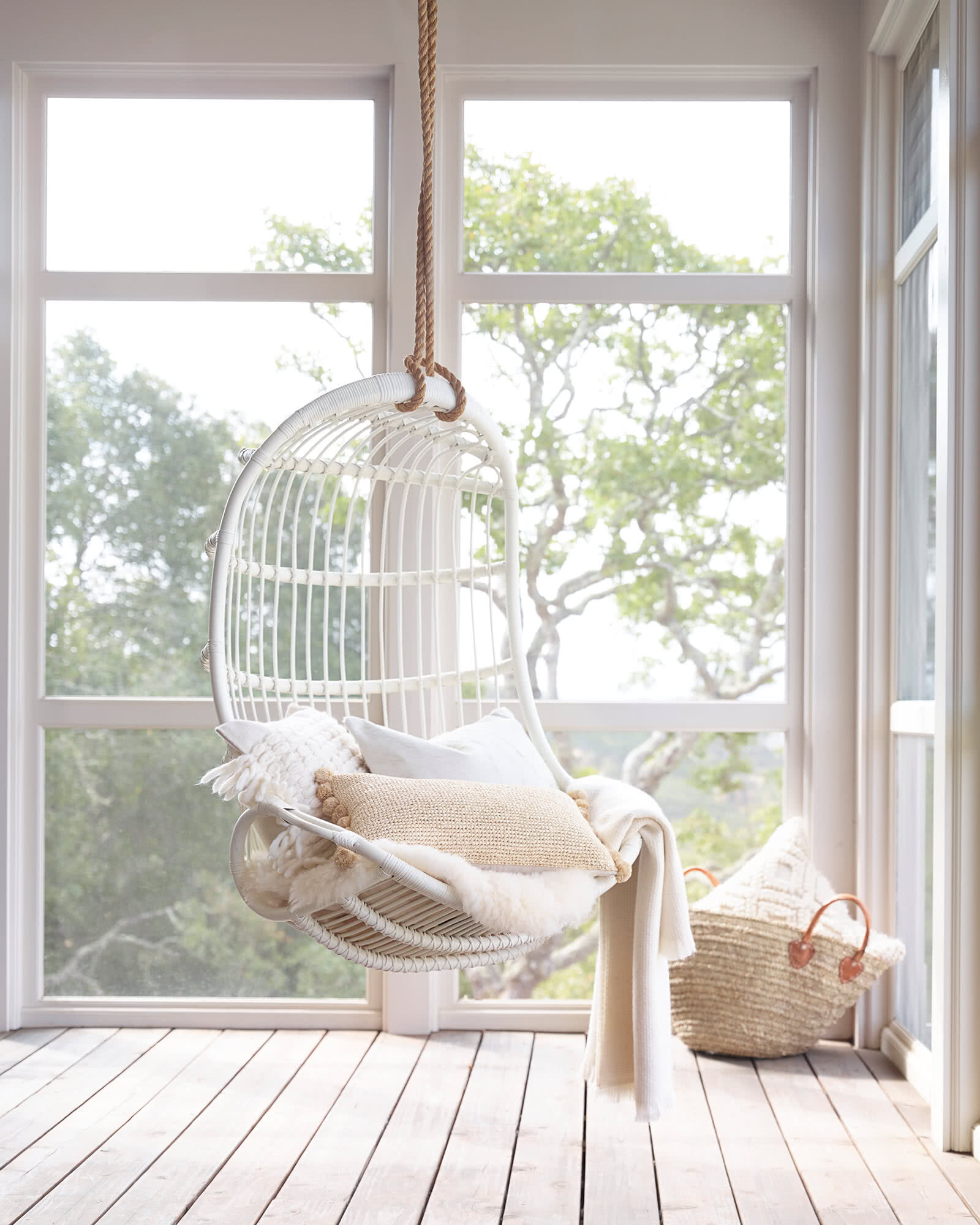 hanging chair serena and lily black covers for party living room chairs find what you love rattan white