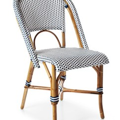 French Rattan Bistro Chairs Polka Dot Rocking Chair Cushions The Fine Print Riviera With A Twist