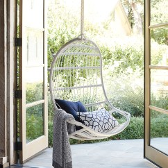 Hanging Chair Outdoor White Resin Serena Lily Chairoutdoor Alt