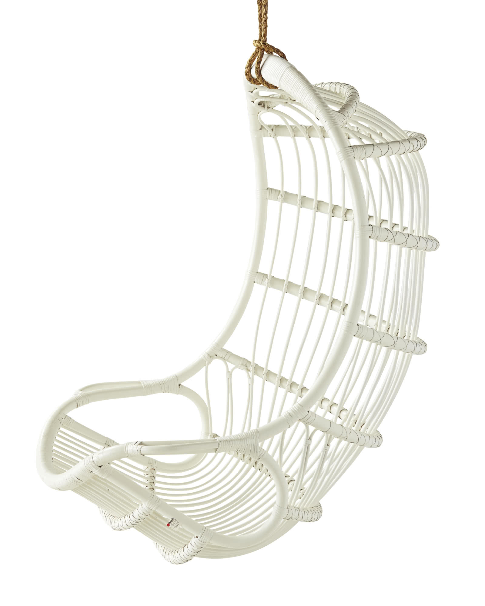 serena and lily hanging chair spindle dining chairs rattan