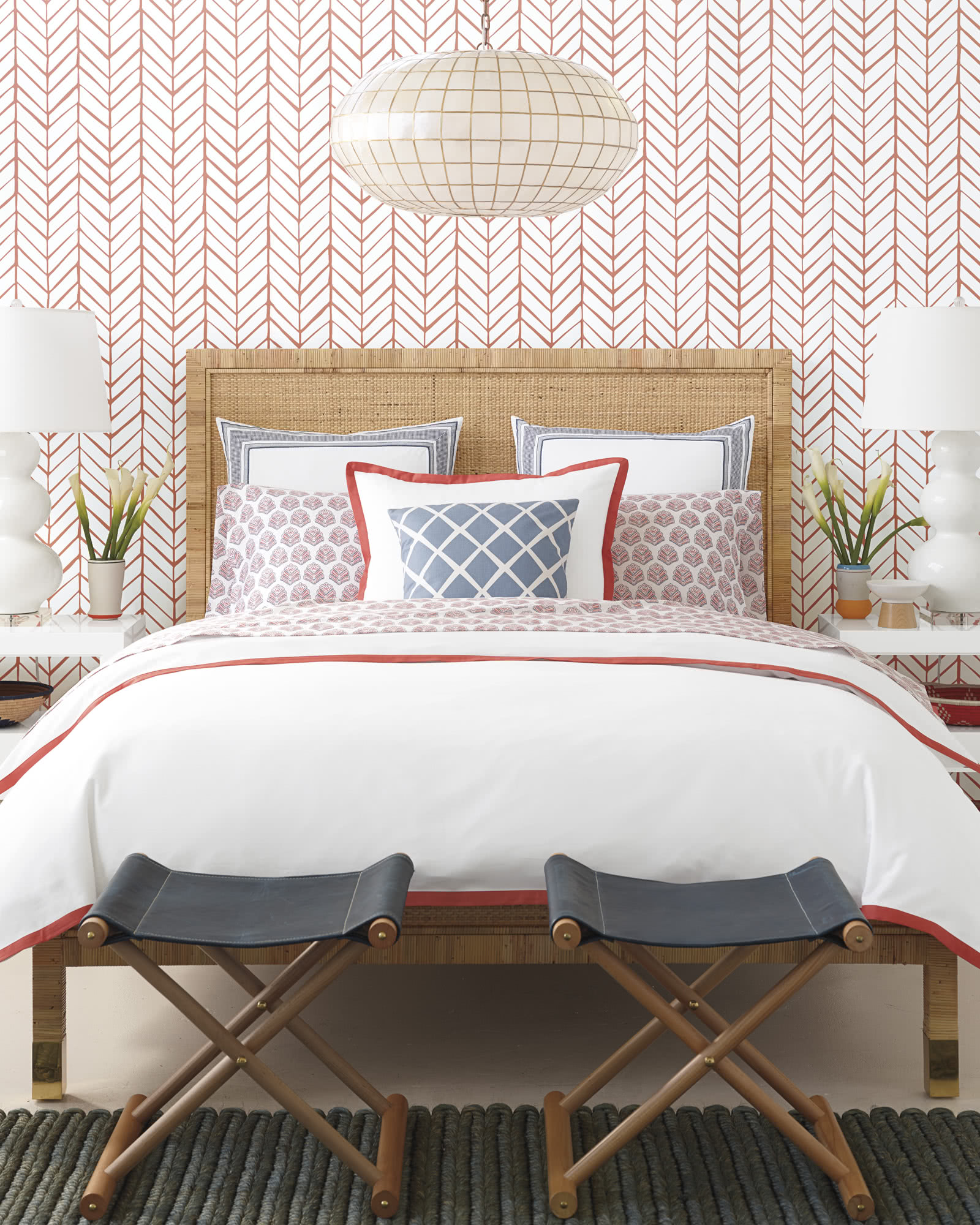 Beautiful Girl Hand Wallpaper Balboa Bed Serena Amp Lily