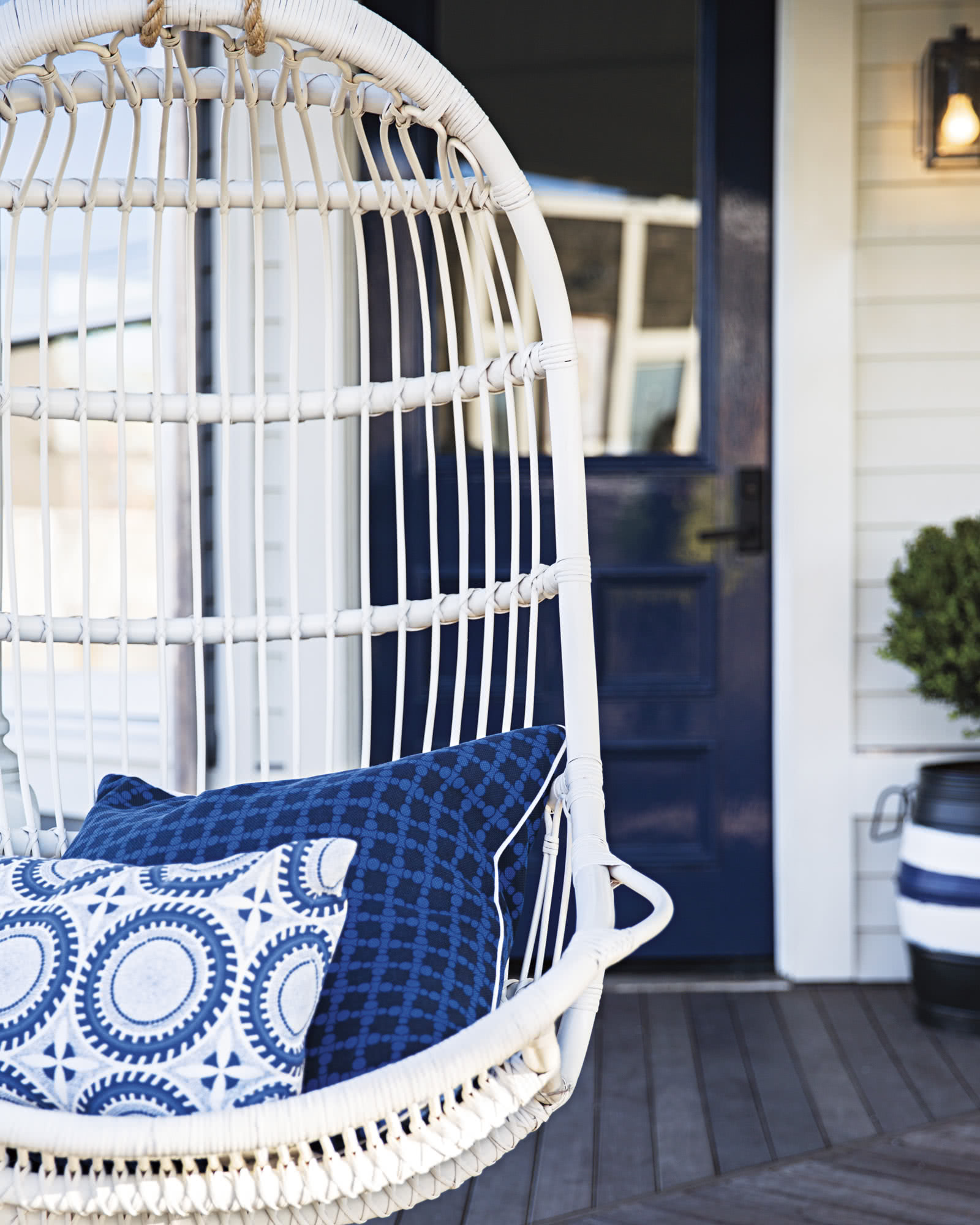 serena and lily hanging chair brown accent rattan chairs