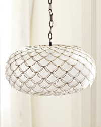 Capiz Scalloped Chandelier - Lighting | Serena and Lily