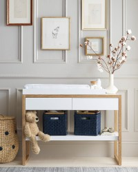 Nursery Changing Table Grey Quinn Changing Table Nursery ...