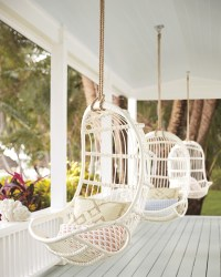 Hanging Rattan Chair - Chairs | Serena and Lily