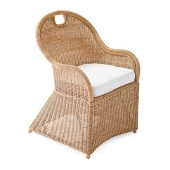 Basket Weave Dining Chairs Black Padded Folding Shore Chair With Cushion Serena And Lily