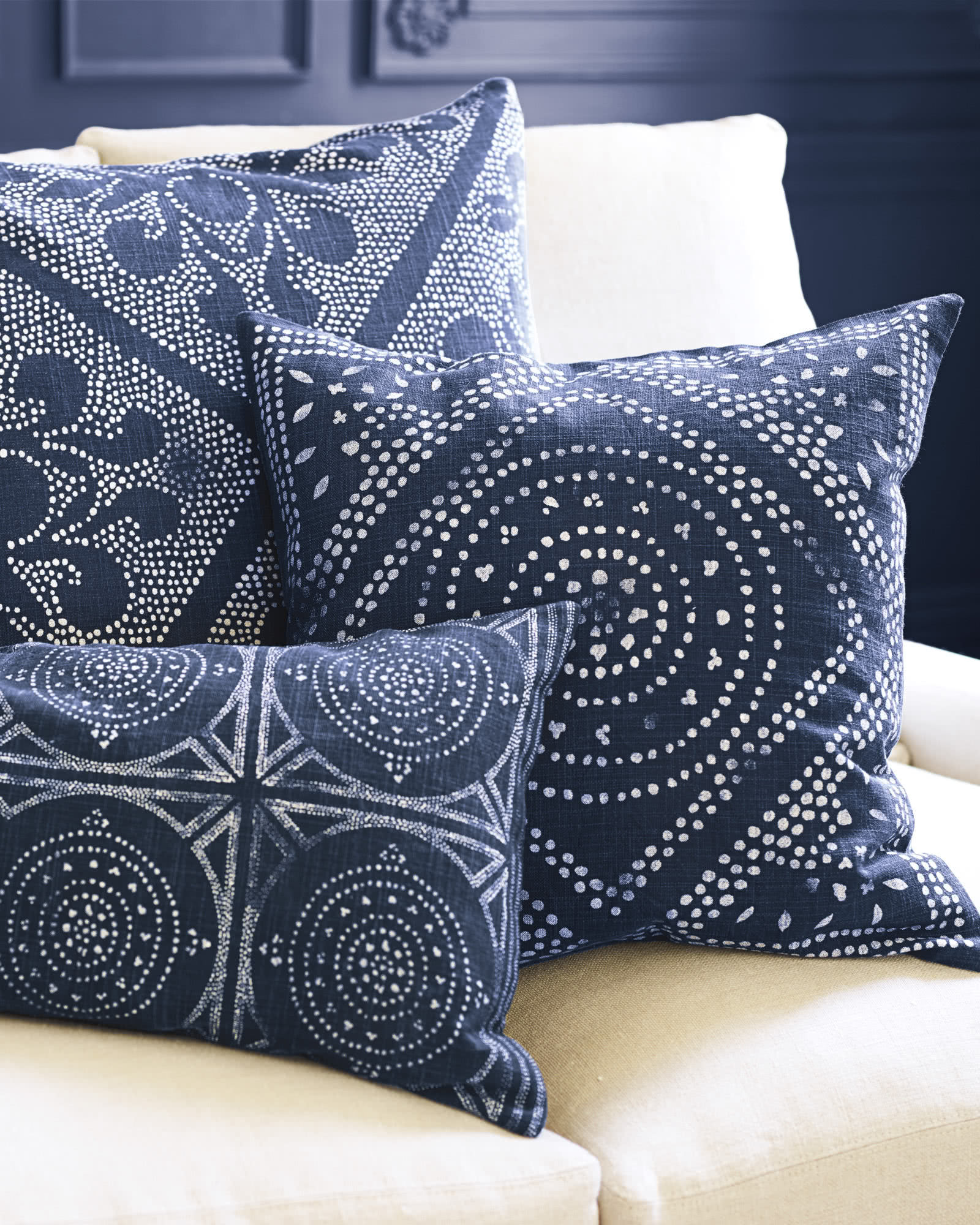 Camille Diamond Medallion Pillow Cover  Serena  Lily