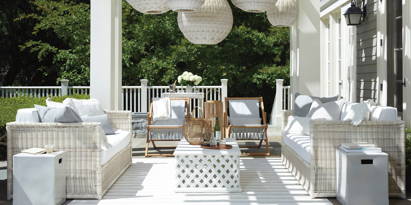 Outdoor Patio Furniture  Outdoor Furnishings  Serena  Lily