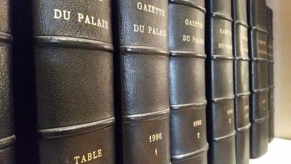 Reliure Gazette du Palais