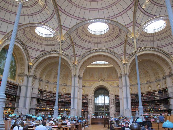 BNF Richelieu, la salle Labrouste