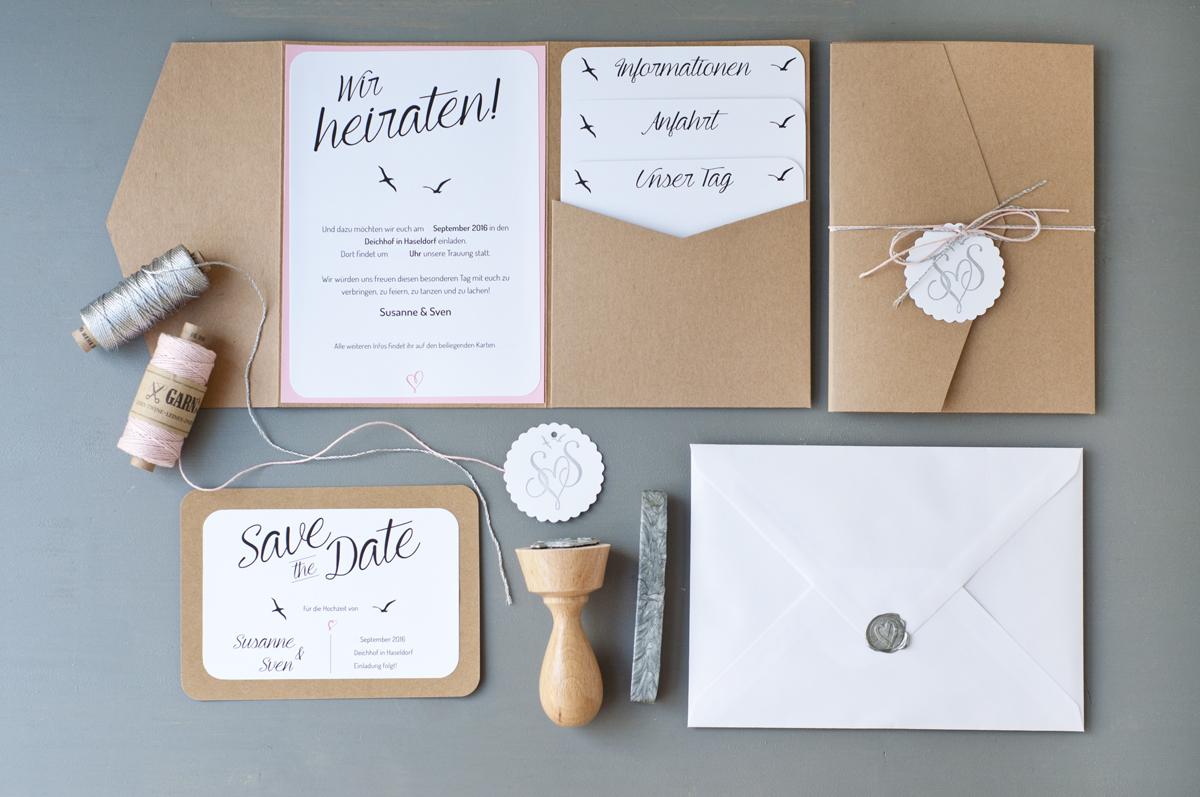 Unsere Hochzeitseinladungen  Serendipity