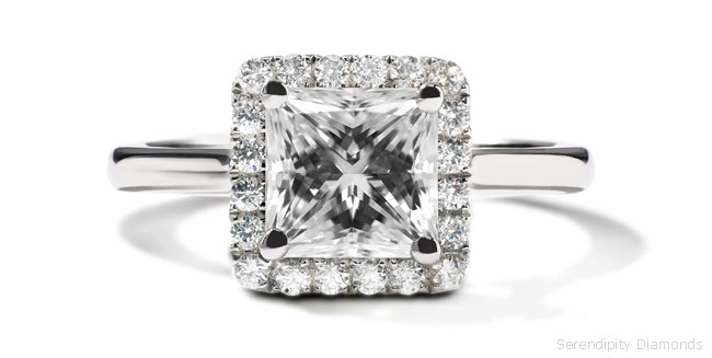 Engagement Rings Framing The Princess Cut With Diamonds