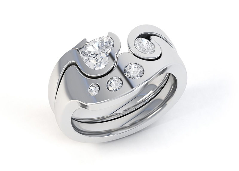 Interlocking Diamond Rings Getting A Perfect Fit By CAD