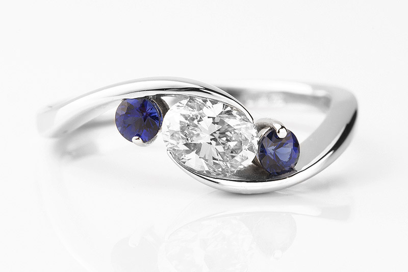Engagement Rings With A Blue Stone Sapphire Topaz