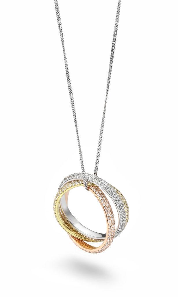 Omg Diamond Wedding Rings Worn As A Pendant