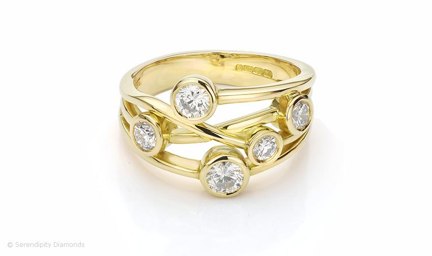 Bubbles Wedding Ring