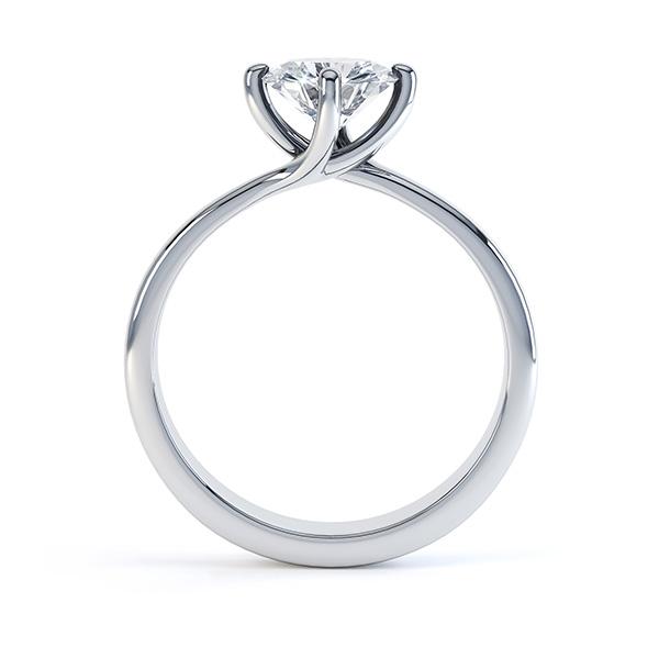 4 Claw Twist Diamond Engagement Ring