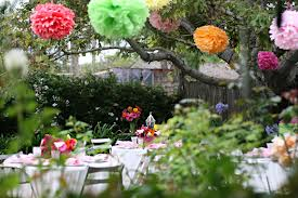 Bridal Shower, garden