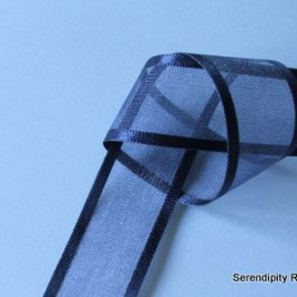 Navy Organza with satin edge