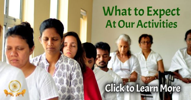 Click here to learn what to expect at our activities