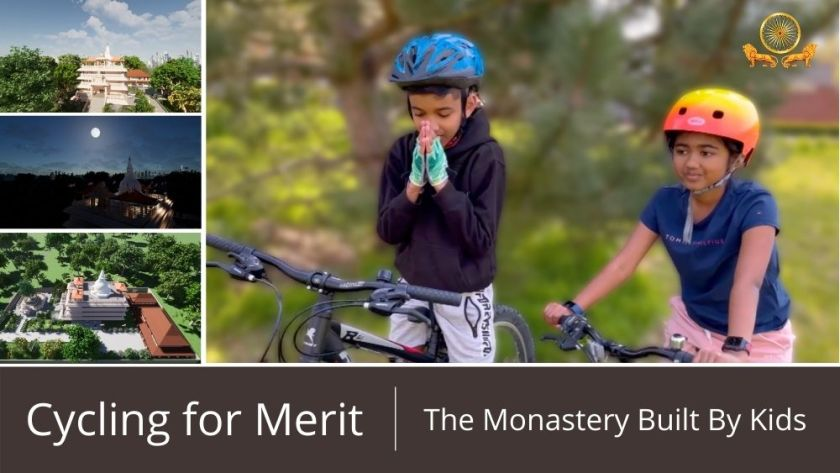 Cycling for Merit | The Monastery Built by Kids