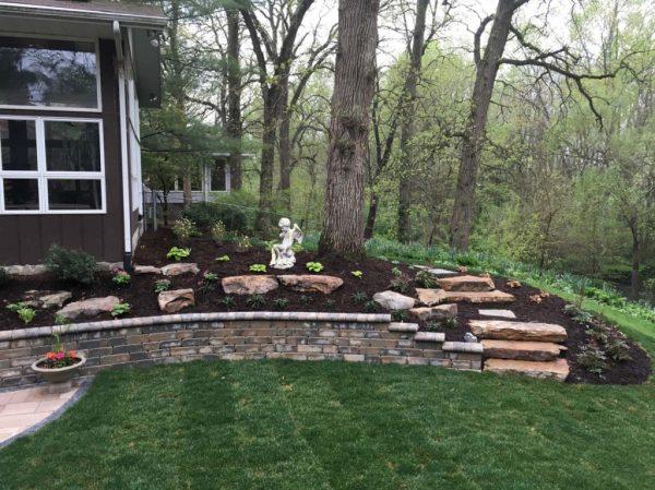 backyard terraced renovation