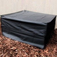 Fire Pit Cover, Square, Black, Long Lasting - Weather ...
