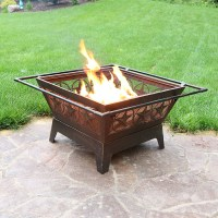 Northern Galaxy Square Fire Pit 32in Wood Burning Outdoor ...