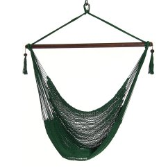 Hanging Chair Without Stand Bistro Dining Table And 4 Chairs Sunnydaze Caribbean Xl Hammock Comfy Outdoor