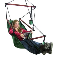 Air Chair Stand Folding Indiamart Sunnydaze Deluxe Hanging Hammock Swing With