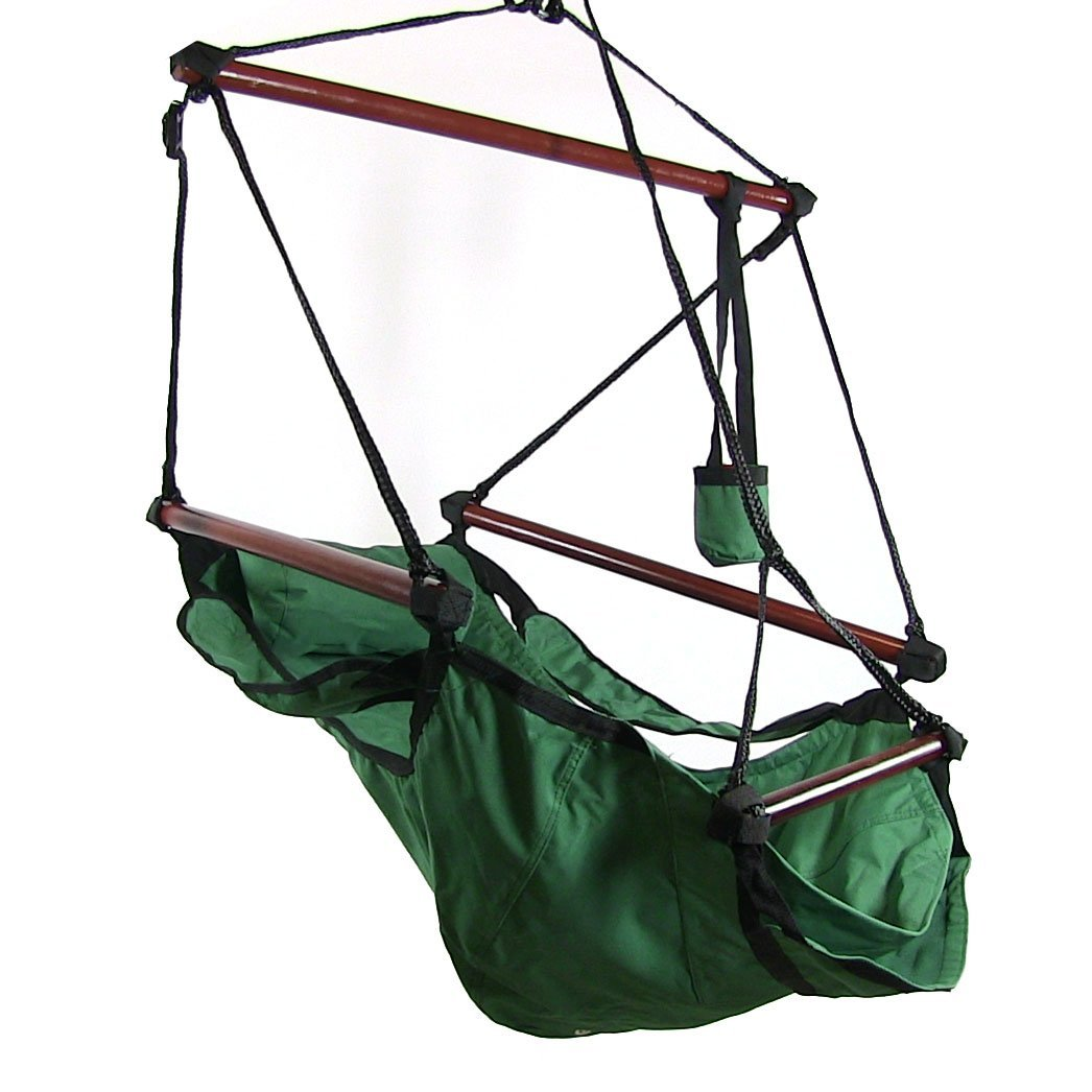 hammock chair stand kijiji linen covers sunnydaze deluxe hanging air swing with