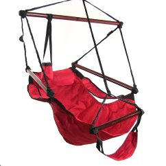 Hanging Chair Ebay Workout Ball Benefits Sunnydaze Deluxe Hammock Air Swing With