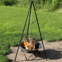 Sunnydaze Tripod Grilling Set with Cooking Grate Steel ...
