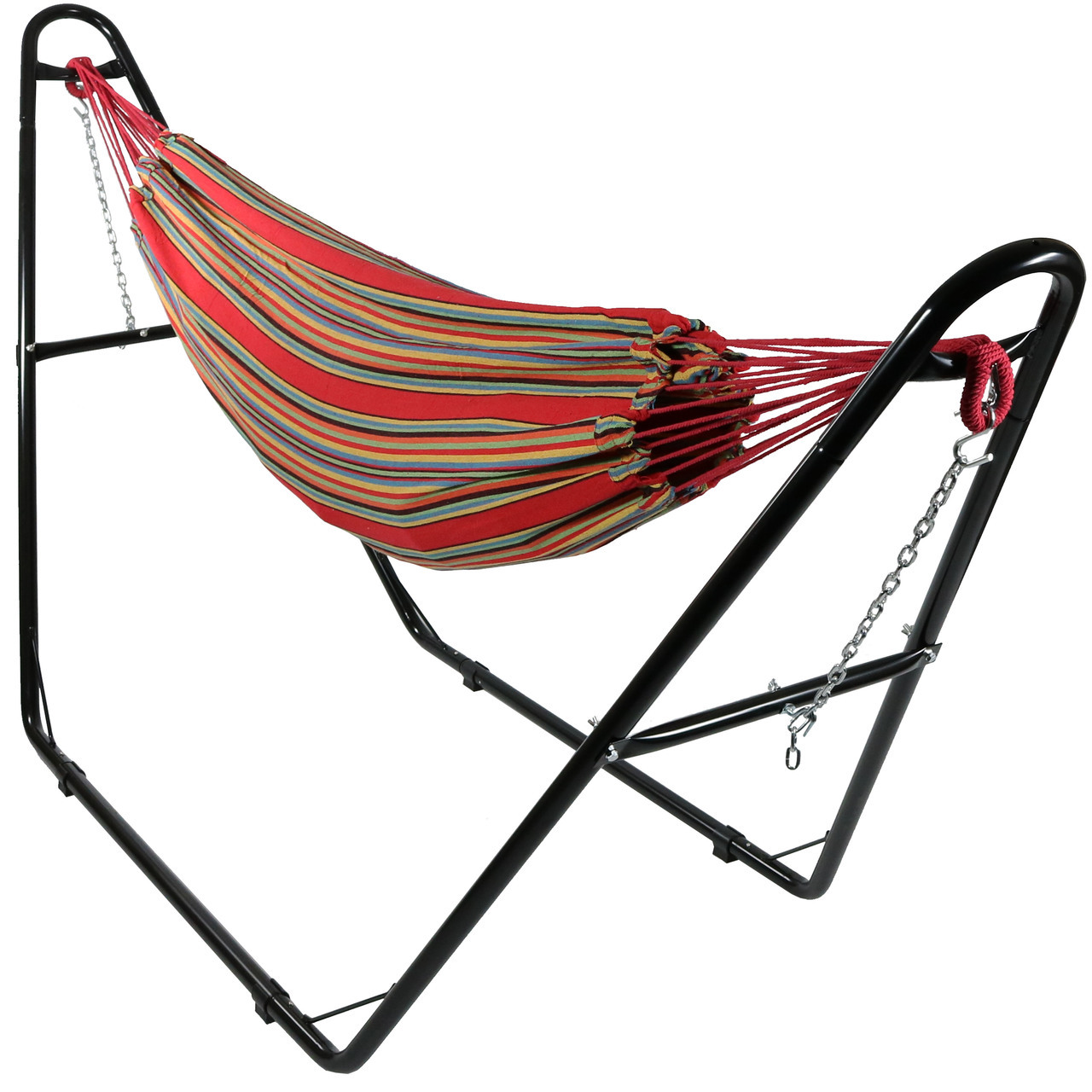 single person hammock chair wooden patio sunnydaze brazilian cotton 2 and universal