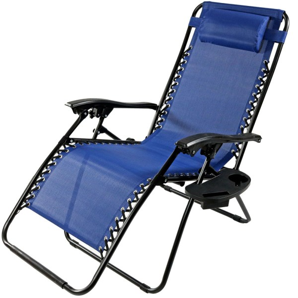 Oversized Gravity Lounge Chair Withpillow & Cup Holder
