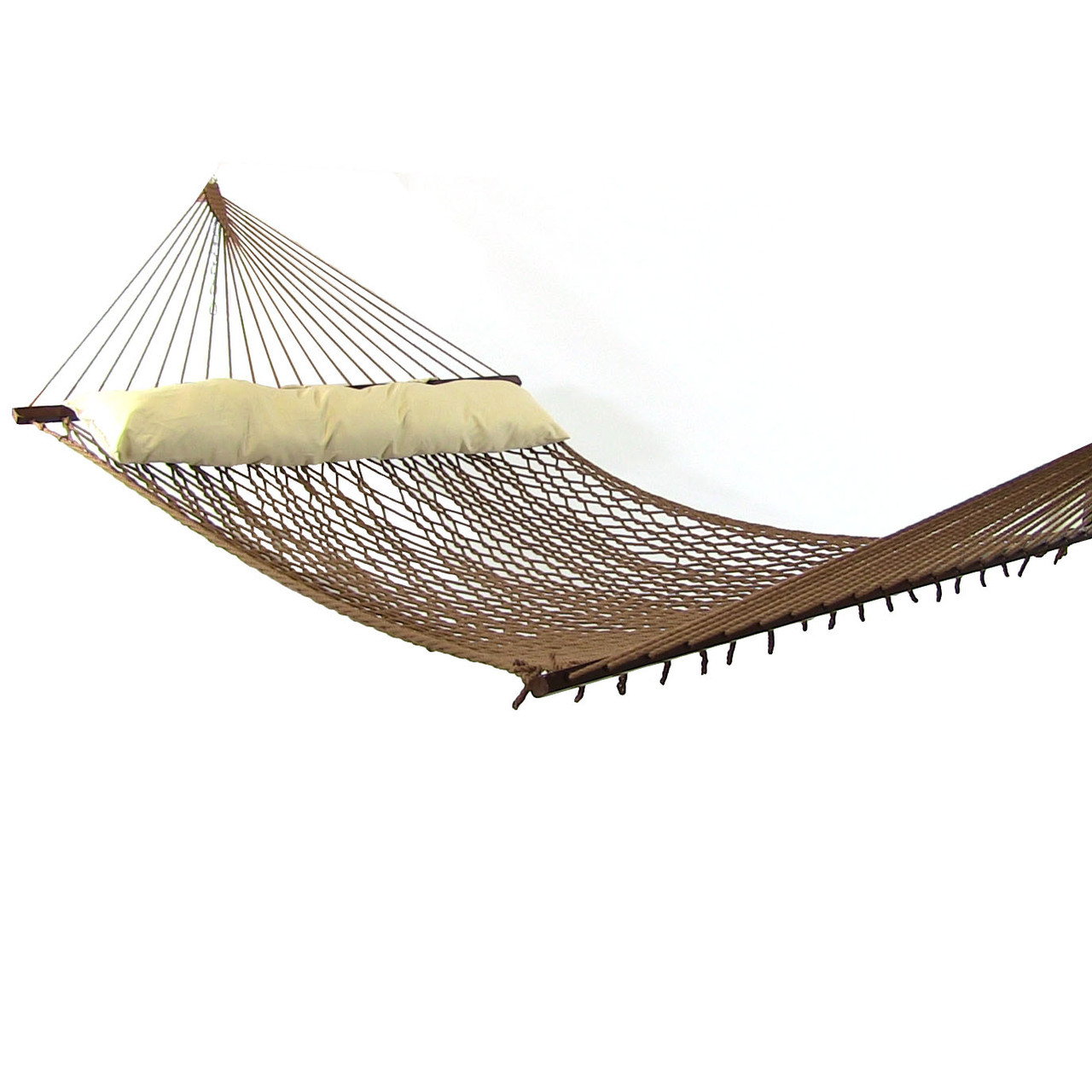 Rope Hammock With Spreader Bars Polyester 450 Pound