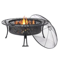 Large Bowl Fire Pit, Durable Steel, Patio/Garden/Camping ...