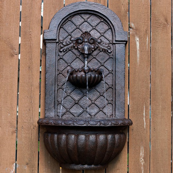 Venetian Outdoor Wall Fountain Solar-powered Lightweight