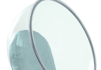 Hanging Bubble Chair Purple