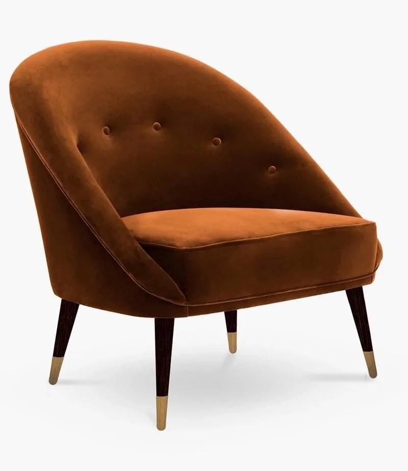 Velvet Round Upholstered Chair