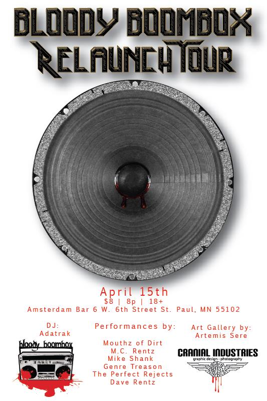 Bloody Boombox Relaunch Tour featuring Artemis Sere