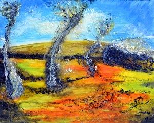 Windswept Palms by Artemis Sere