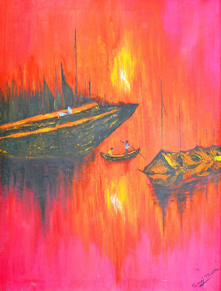 Sandy Matke SS-SG-00315 Sunset on the Styx