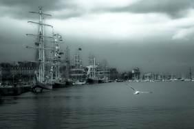 Vieux gréements amarrés dans le port de Saint-Malo - Serge Ducout - Photographie