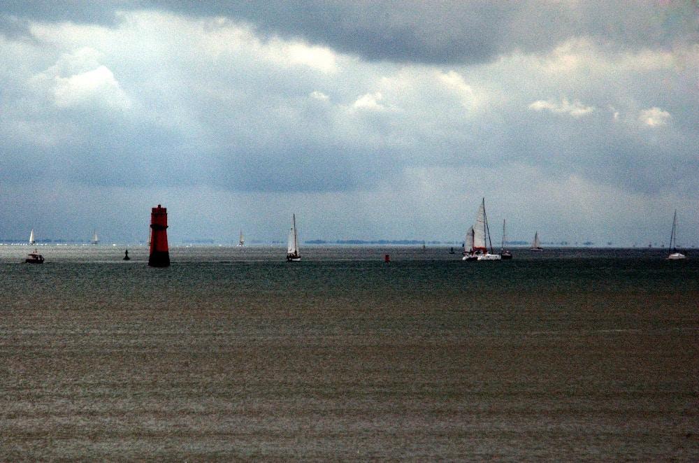 Bateaux dans la baie de La Rochelle - Serge Ducout - Photographie